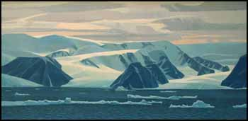Devon Island over Jones Sound, NWT by Alan Caswell Collier