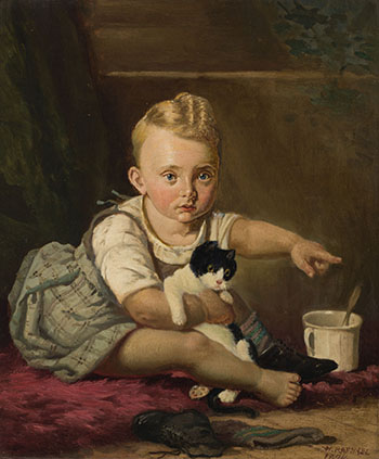 Child with Cat by William Raphael