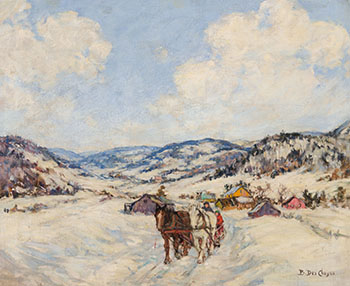 A Laurentian Village by Berthe Des Clayes