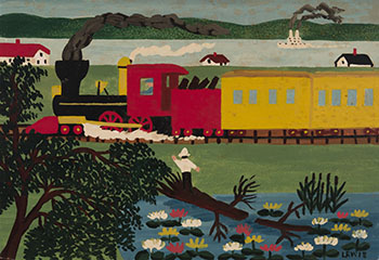 Passing Train, Digby by Maud Lewis