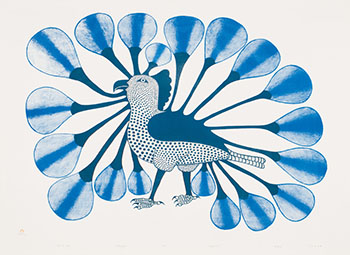 Owl in Blue by Kenojuak Ashevak